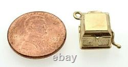 14k Victrola Record Player Charm withMoving Handle and Turntable