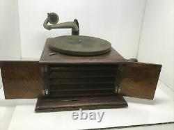 1914 Victor Victrola Phonograph Model VV IV Talking Machine Record Player Works