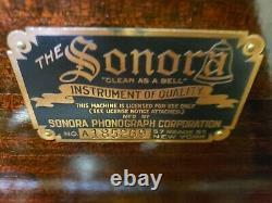1918 SONORA Intermezzo Working Hand Crank Victrola Record Player Phonograph