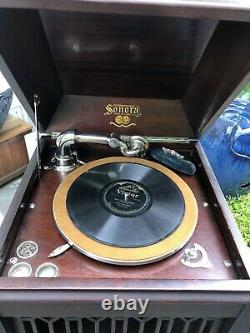 1920s Antique Sonora Victrola Record Player Phonograph Working + 78 RPM records