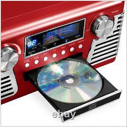 50's Retro Bluetooth Record Player Multimedia Center Built