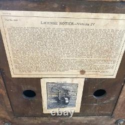 Antique 1913 VICTOR VICTROLA VV-IV 182663 D Record Player TALKING MACHINE