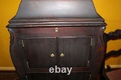 Antique Mahogany Victor Victrola Phonograph Record Player shell