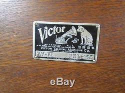 Antique Oak Victor Victrola Vv-vi Record Player Talking Machine #701258