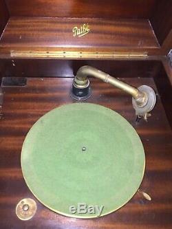 Antique Pathe Padior Phonograph Hand Crank Record Player Works