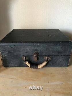 Antique Portable Victrola Wind-up Suitcase Record Player