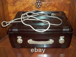 Antique RCA Victrola Suitcase phonograph Record Player METP Vilnius Elfa USSR