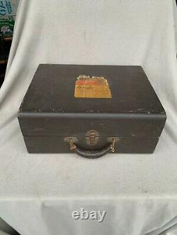 Antique Rca Portable Wind-up Hand Crank Victrola Record Player, Working