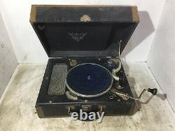 Antique Victrola RCA Portable Suite Case Record Player Crank