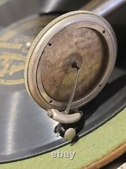 Antique Working 1917 Columbia Grafonola WindUp Victrola Phonograph Record Player