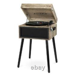 Bluetooth record player stand with 3-speed turntable