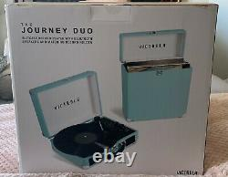 Brand New Victrola Journey Combo-Record Player with Matching Record Holder