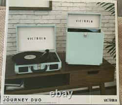Brand New Victrola Journey Duo Combo-Record Player with Matching Record Holder