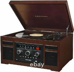 Crosley CR7007D-MA Patriarch 3-Speed Turntable Phonograph withRadio, Cd Player