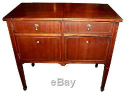 Early 20th c. Victrola Style Record Player Cabinet with Record Storage