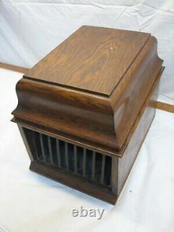 Edison Amberola 30 Wax Cylinder Record Phonograph Player Runs Victrola