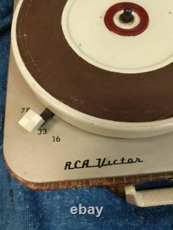 FULLY OPERATIONAL RCA Victor Victrola Suitcase Portable Record Player 1-EMP-2KK