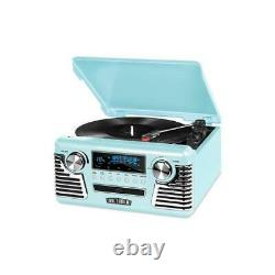 Innovative Technology Inn-v50-200-tel Victrola Retro Record Player Teal