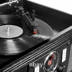 New Bluetooth 3-Speed Record Player Turntable CD Cassette FM AUX USB Encoding