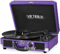 New Victrola Bluetooth Nostalgic Vintage 3 Speed Record Player Turntable AUX RCA