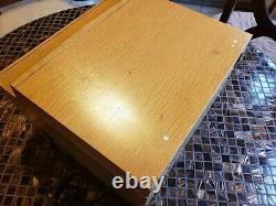 RCA Victor Victrola 7-HF-45 Record Player Lift Rift Oak Blonde Req Restoration