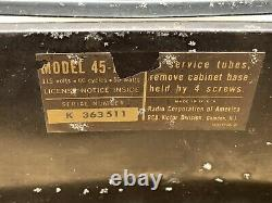 RCA Victrola 45-EY-3 45rpm Record Player Works, Needs Some Love Original Owner