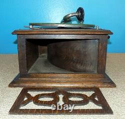 Rare Cecilian Wind-Up Phonograph Victrola Type Record Player Free Shipping