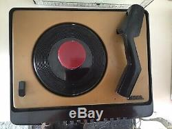 Rca Victor Portable Battery Powered Record Player Victrola Ey2 1950