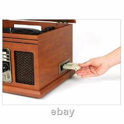 Retro Record Player Vintage Radio Cassette CD Vinyl Records Turntable Wireless