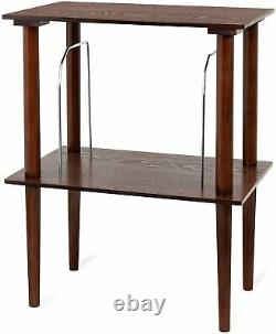 Small Retro Wooden Turntable Stand Table Record Player Vinyl LP Storage Dividers