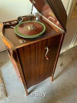 Sonora Victrola Record Player-Wooden stand up Sonora Victrola record player