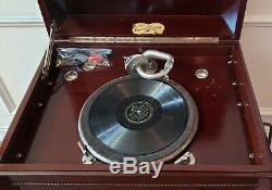 VINTAGE VICTROLA 1912 Phonograph PLAYER Works GREAT A Rare Piece of History