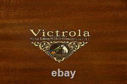 Victor Mahogany Antique Victrola Record Player Phonograph VE8-30X #36850