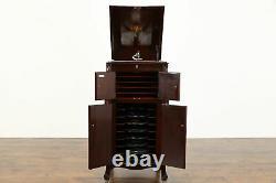 Victor Mahogany Antique Victrola Record Player Phonograph VV-XI & Records #38536