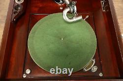 Victor Mahogany Antique Victrola Record Player Phonograph VV-XVI #34261