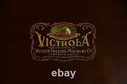 Victor Mahogany Antique Victrola Record Player Phonograph VV-XVI #35786