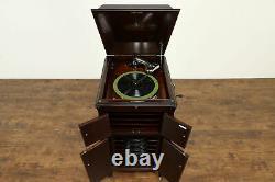 Victor Mahogany Victrola Wind Up Record Player Phonograph Model VVXIA #36847
