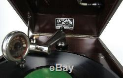 Victor Talking Machine VV-50 Suitcase Portable Victrola Record Player Works