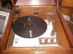 Victor Victrola Console Phonograph with Electric Turntable Player Working
