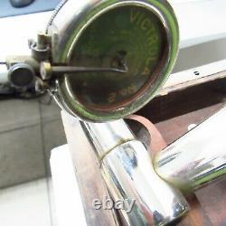 Victor Victrola Talking Machine Disc Phonograph VV-IX Hand Crank Record Player