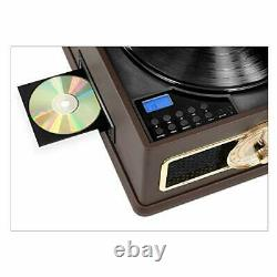 Victrola 5-in-1 Nostalgic Madison Bluetooth Record Player with CD Radio Recor