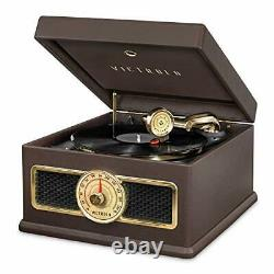Victrola 5-in-1 Nostalgic Madison Bluetooth Record Player with CD, Radio, Record