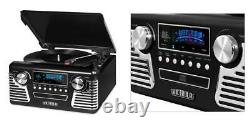 Victrola 50's Retro 3-Speed Bluetooth Turntable with Stereo, CD Player Black