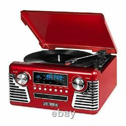 Victrola 50's Retro Bluetooth Record Player & Multimedia Center with Built-in Sp
