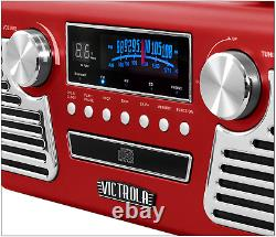 Victrola 50's Retro Bluetooth Record Player Multimedia Center with Built-in Sp