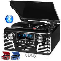 Victrola 50's Retro Record Player Stereo Bluetooth USB Encoding CD V50-200-BLK