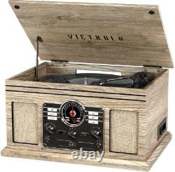 Victrola 6-in-1 Nostalgic Bluetooth Record Player -3-Speed Turntable- Farmhouse