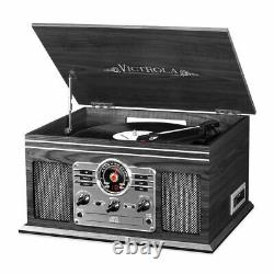 Victrola 6-in-1 Nostalgic Bluetooth Record Player with 3-speed Turntable with C