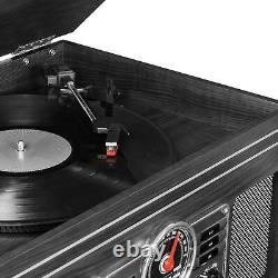 Victrola 6-in-1 Nostalgic Bluetooth Record Player with 3-speed Turntable with CD