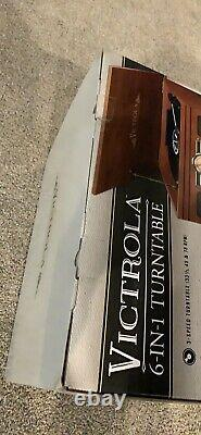 Victrola 6-in-1 Nostalgic Record Player with Turntable Mahogany
